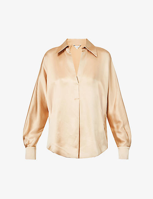 VINCE: Relaxed-fit silk shirt