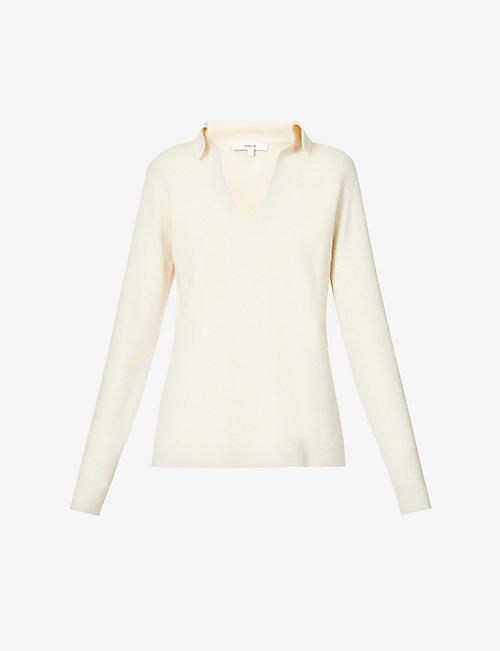 VINCE: V-neck wool-cashmere blend jumper