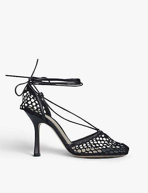 BOTTEGA VENETA: Stretch wraparound leather and mesh courts