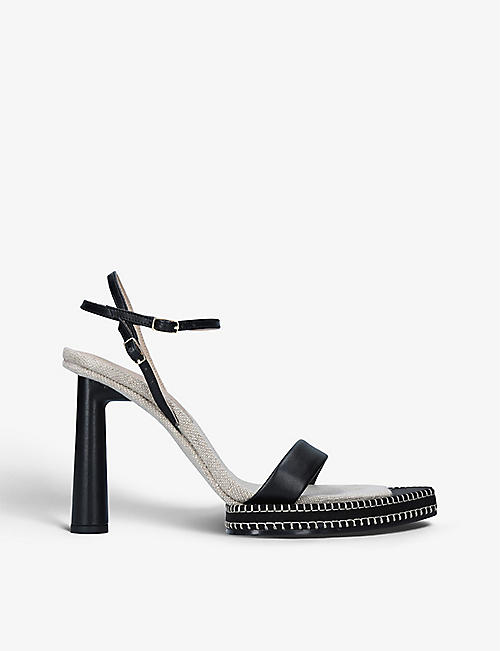 JACQUEMUS: Les Sandales Novio leather platform sandals
