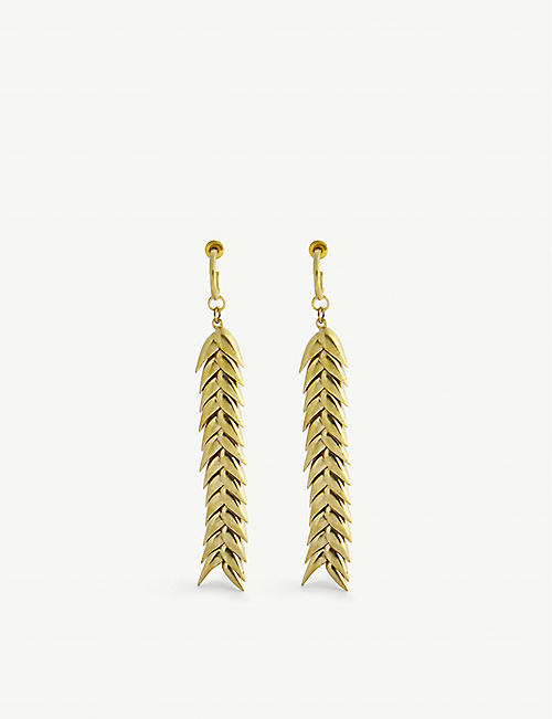 BEVZA: Spikelet brass earrings