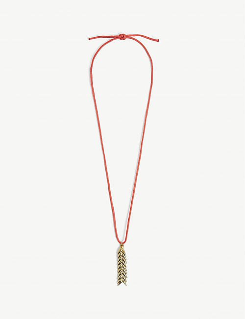BEVZA: Spikelet brass necklace