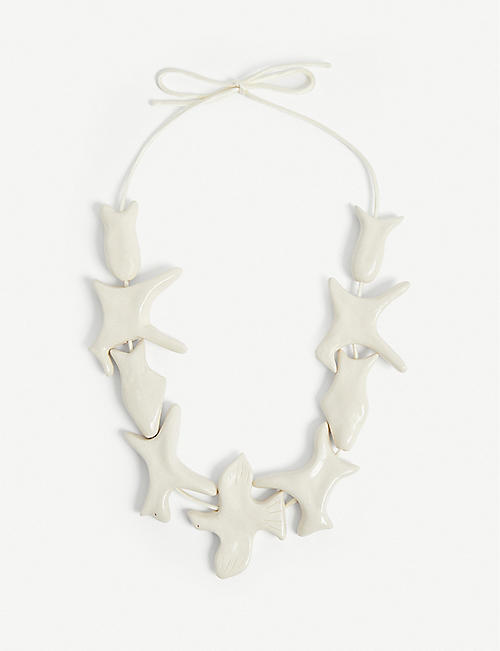 BEVZA: Animals porcelain necklace