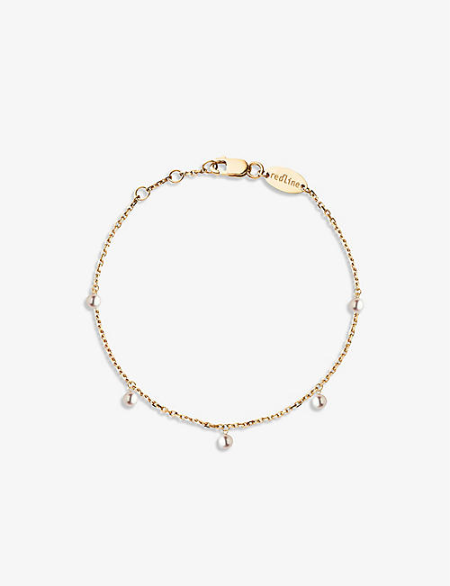 THE ALKEMISTRY: Redline 18ct yellow gold and pearl bracelet