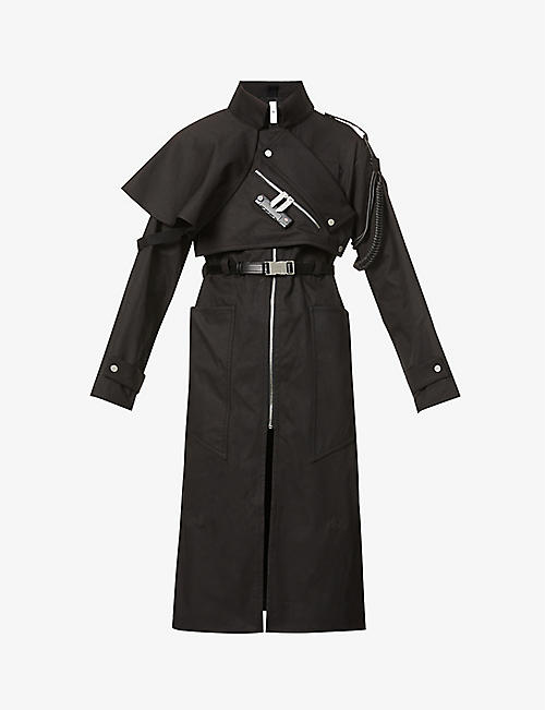 PIECES UNIQUES: La Cle Guardian lock-embellished cotton-drill coat