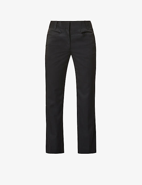 PIECES UNIQUES: Taylor relaxed-fit flared wool trousers