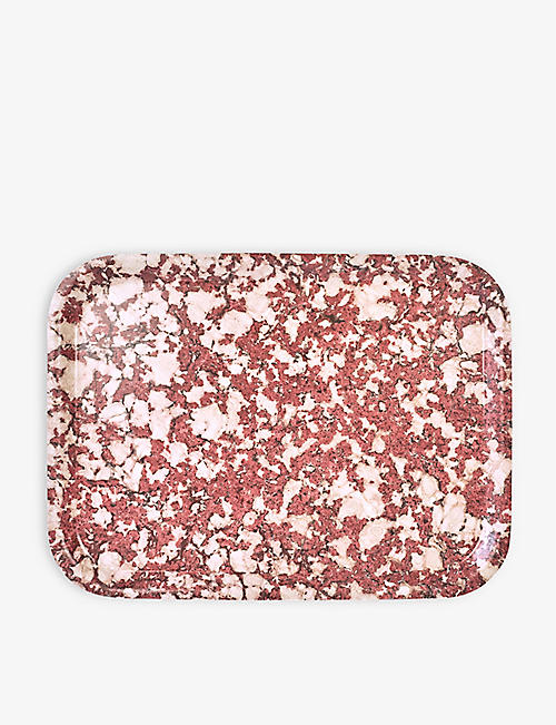 STUDIO FORMATA: Ruby Galaxy wooden breakfast tray 27x20cm