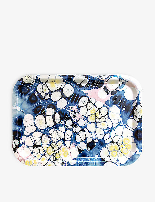 STUDIO FORMATA: Ocean Sparkle wooden lunch tray 34cm x 24cm