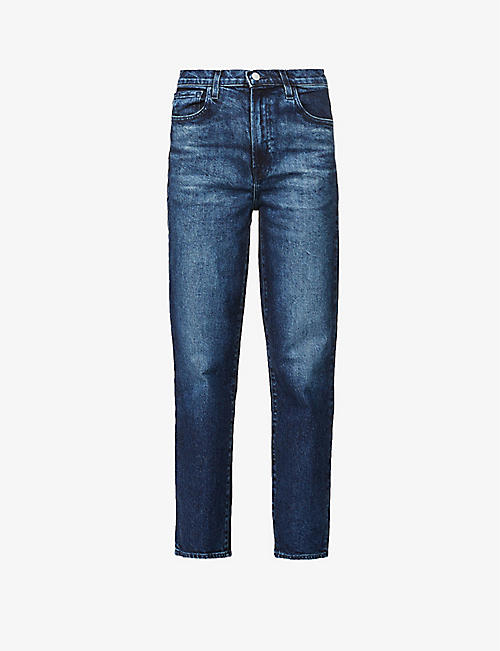 J BRAND: Jules straight-leg high-rise stretch-denim jeans