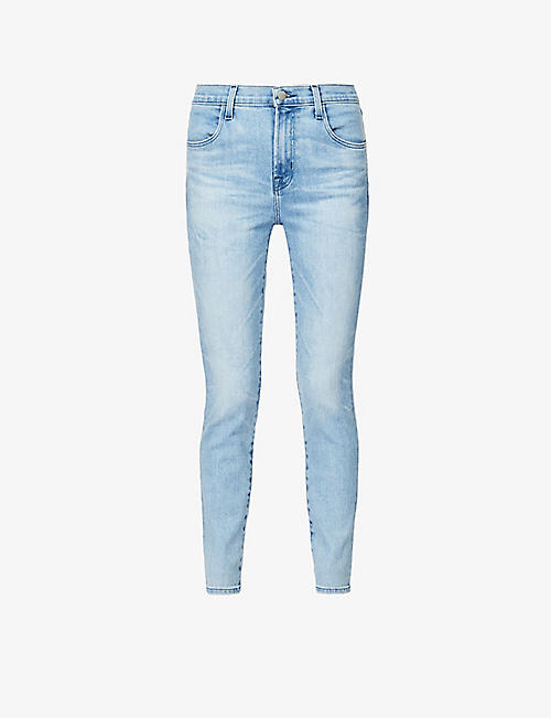 J BRAND: Alana cropped skinny high-rise stretch-denim jeans