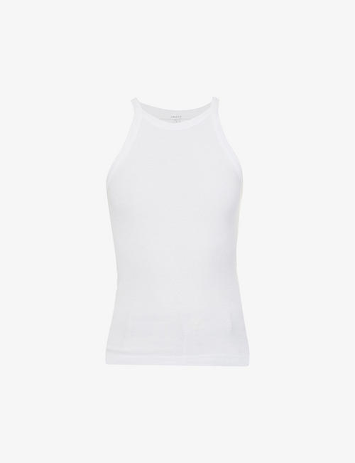 J BRAND: Claire ribbed cotton-blend jersey top