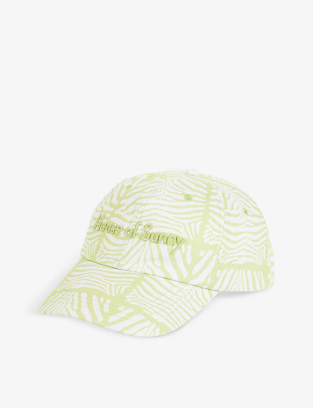 house of sunny Reef logo-embroidered cotton-twill baseball cap