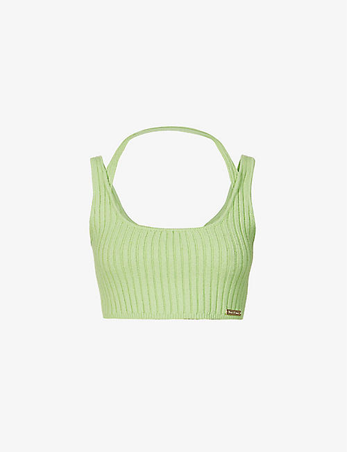 HOUSE OF SUNNY: Kelly Sport cropped knitted top