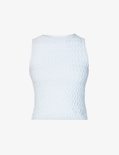 HOUSE OF SUNNY: Pacific sleeveless knitted top