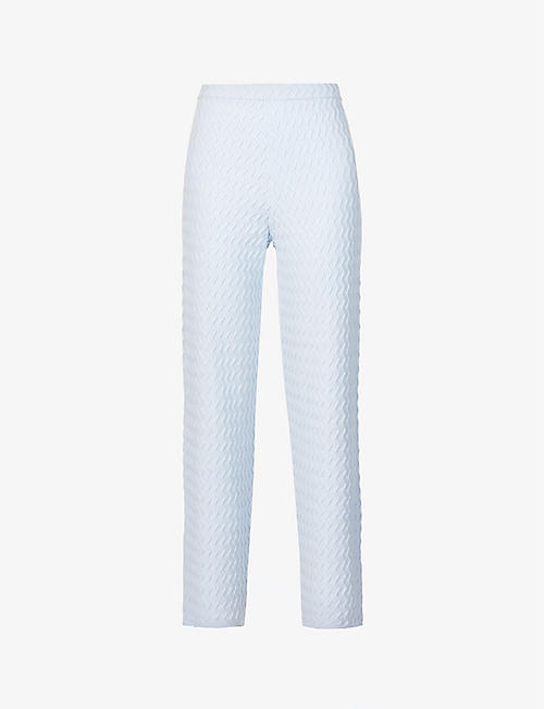 HOUSE OF SUNNY: Pacific high-rise knitted trousers
