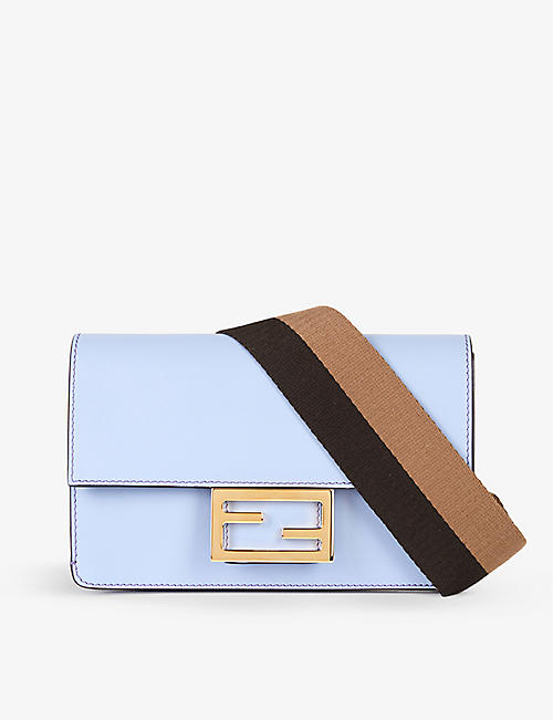FENDI: FF-embellished leather cross-body bag