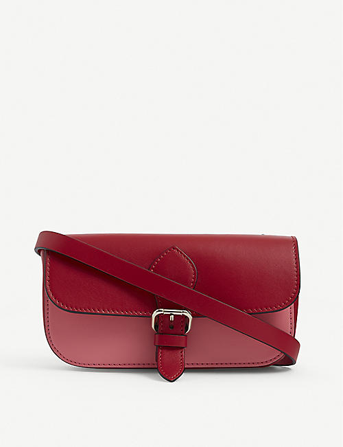 RED VALENTINO: Two-tone leather cross-body bag