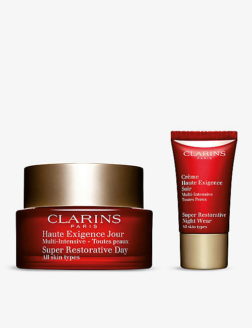 CLARINS: Super Restorative Day Cream and Night Cream gift set