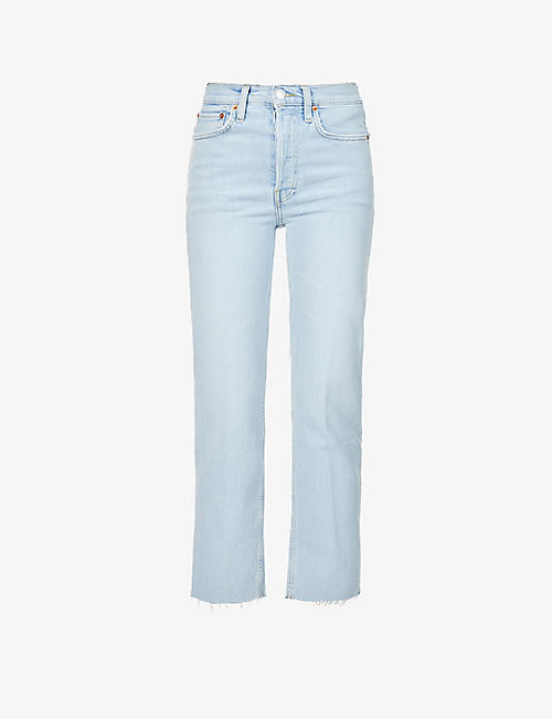 RE/DONE: 70s Stove Pipe straight high-rise jeans