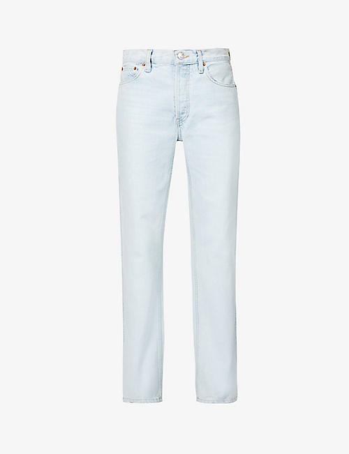 RE/DONE: 90s high-rise slim-fit straight-leg jeans