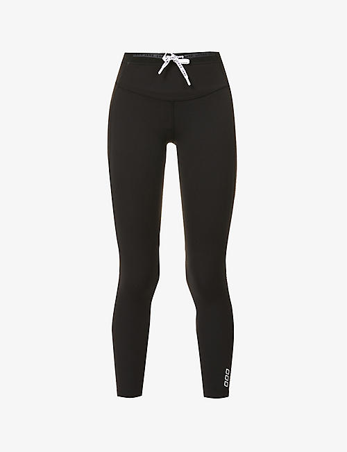 LORNA JANE: Curves logo-print 7/8 stretch-jersey leggings