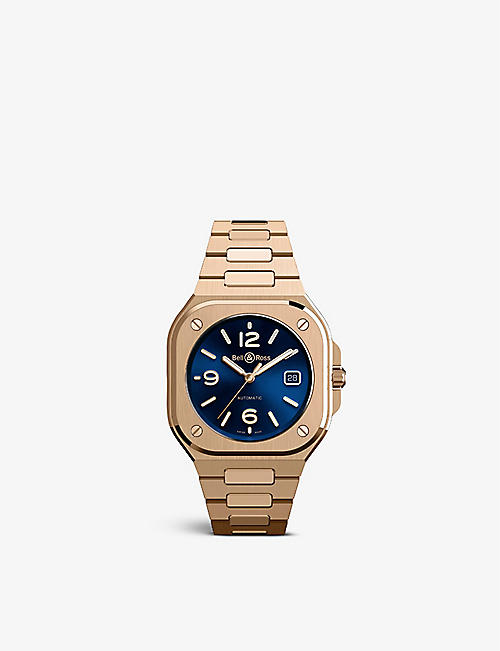 BELL & ROSS: BR05A-BLU-PG/SPG BR 05 18ct rose-gold automatic watch