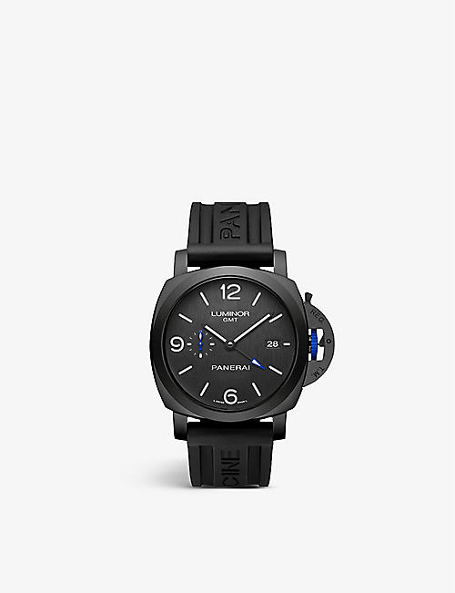 PANERAI: PAM01176 Luminor GMT ceramic and rubber automatic watch