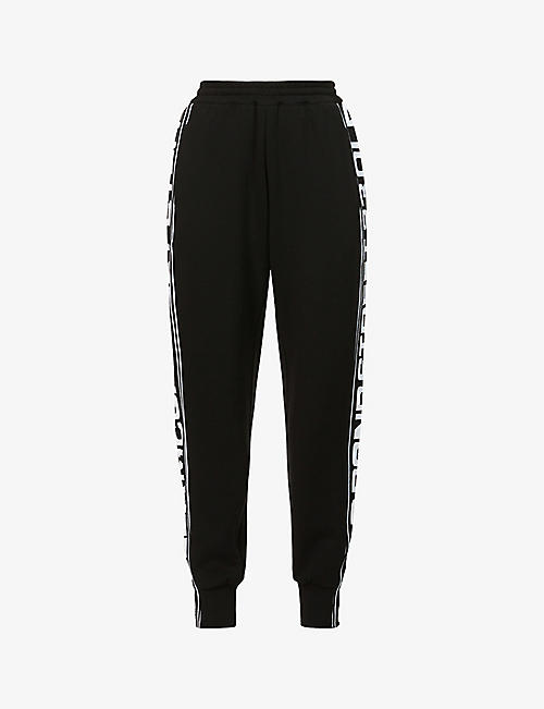STELLA MCCARTNEY: Logo-print mid-rise cotton-jersey jogging bottoms