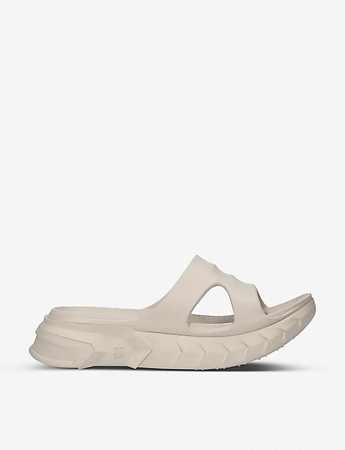 GIVENCHY: Marshmallow rubber slider sandals