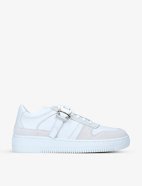 ALYX: Buckle-embellished perforated leather trainers