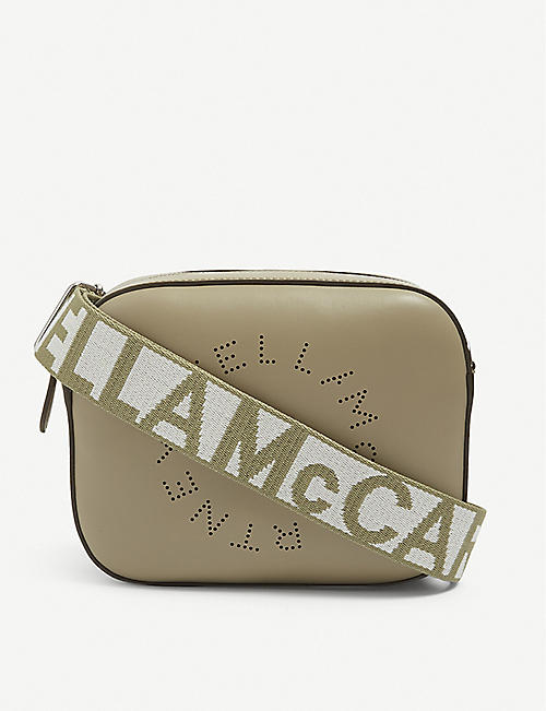 STELLA MCCARTNEY: Circle vegan-leather cross-body camera bag