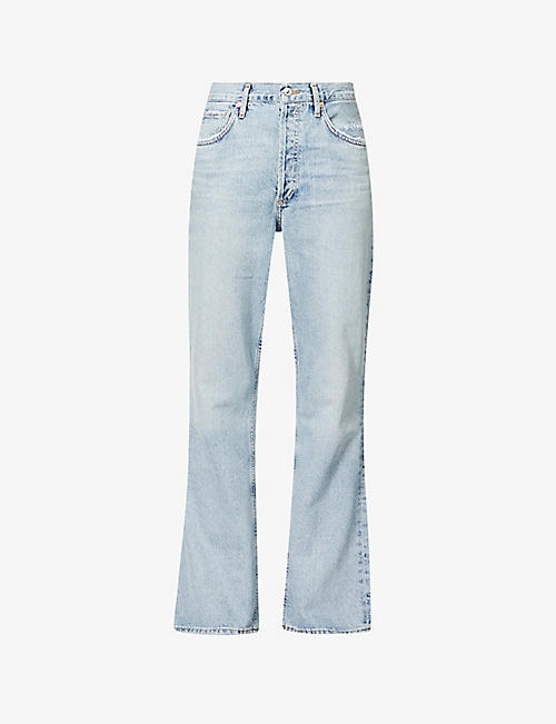 CITIZENS OF HUMANITY: Libby slim-fit high-rise bootleg jeans