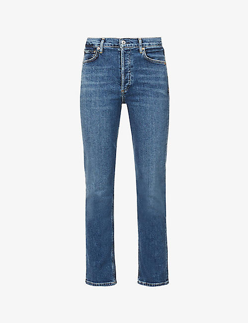 CITIZENS OF HUMANITY: Charlotte straight-leg high-rise jeans