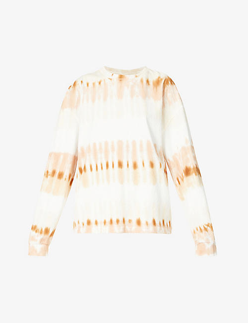 CITIZENS OF HUMANITY: Tie-dye oversized cotton-jersey top