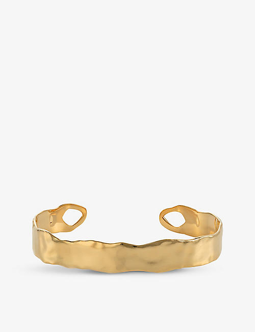 MONICA VINADER: Siren Muse 18ct gold vermeil on sterling silver cuff bracelet