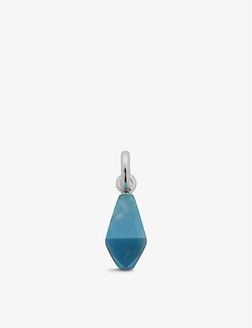 MONICA VINADER: Doina sterling silver and turquoise pendant