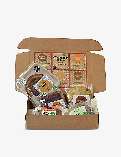 ELIZABETH D BAKES: Vegan Treat Selection Box 500g::