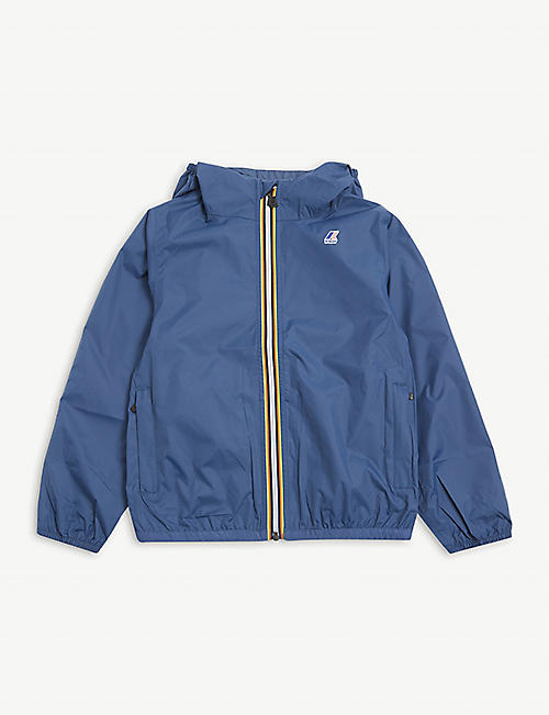 K WAY: Claude hooded shell jacket 4-16 years