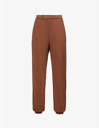 ATTICO: Peggy mid-rise cotton-jersey jogging bottoms