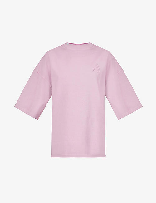 ATTICO: Cara branded cotton-jersey T-shirt