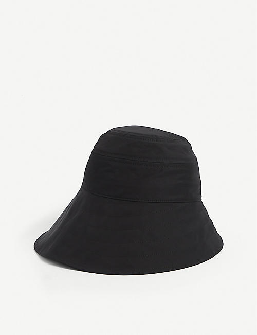 ATTICO: Logo-plaque nylon-blend bucket hat