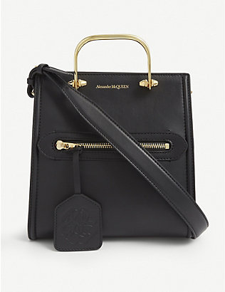 ALEXANDER MCQUEEN: Short Story leather tote bag