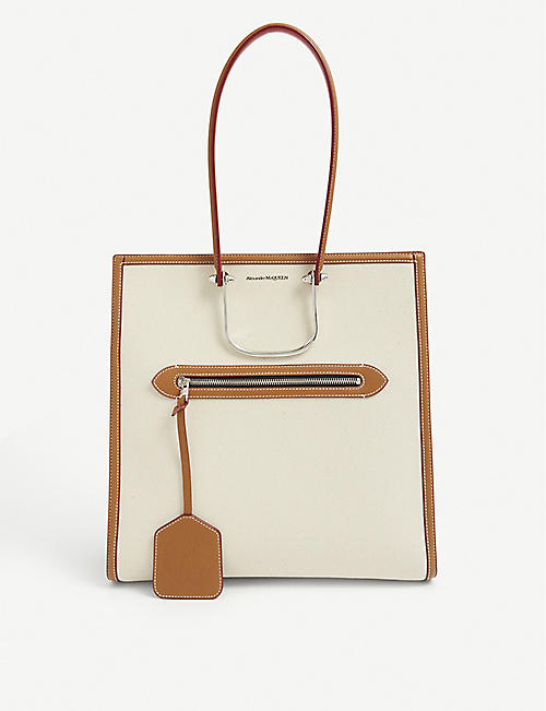ALEXANDER MCQUEEN: Tall Story canvas tote bag