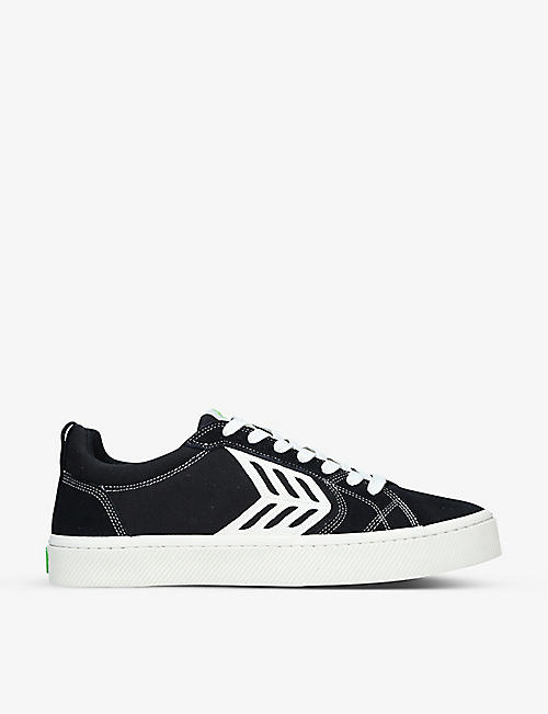 CARIUMA: Men's Catiba Pro low-top suede and canvas trainers