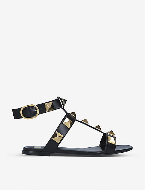 VALENTINO GARAVANI: Roman Stud leather sandals