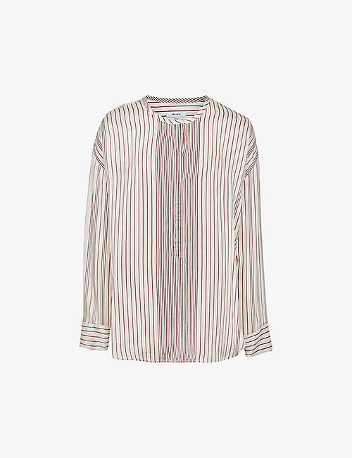 REISS: Carlie striped woven blouse