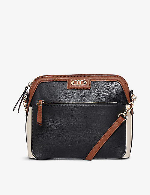 DUNE: Dollar faux-leather cross-body bag