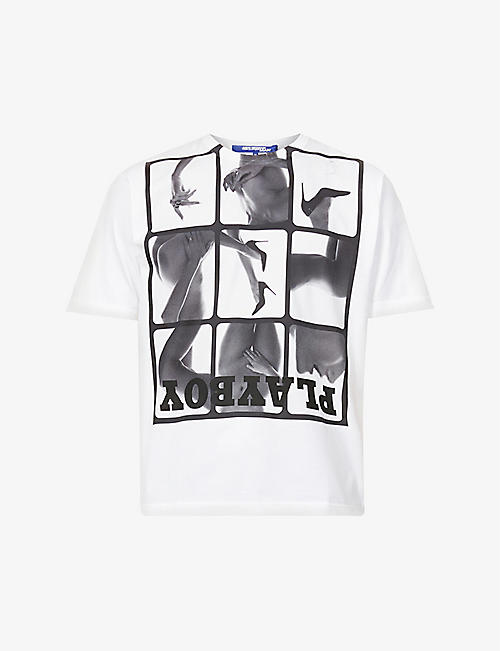 JUNYA WATANABE: Playboy graphic-print cotton-jersey T-shirt