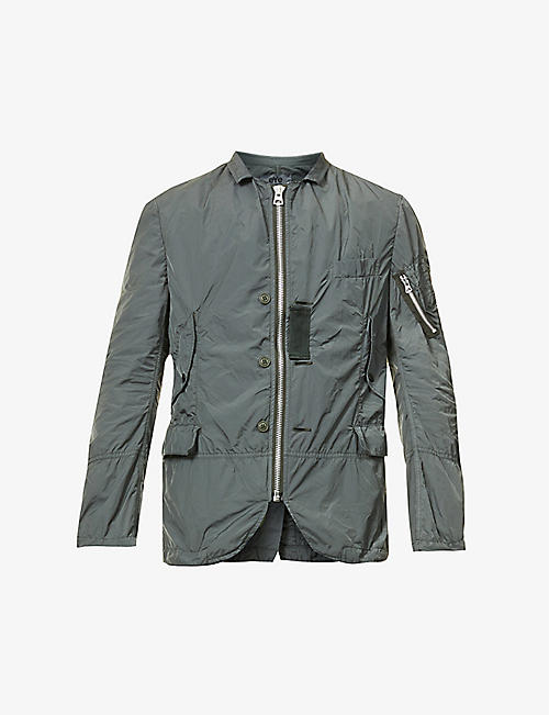 JUNYA WATANABE: Patch-pocket collared shell bomber jacket