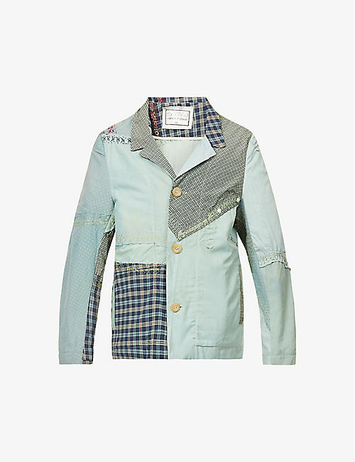 BY WALID: Harry patchwork-pattern cotton jacket